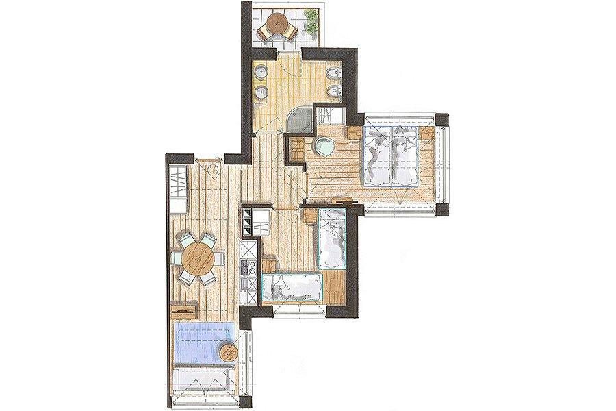 Appartamento vacanze in val di fiemme trilocale a predazzo for Costruisci le tue planimetrie domestiche